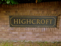 Exeter acupuncturist: Highcroft sign.