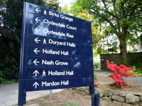 Turn left for Duryard Halls.