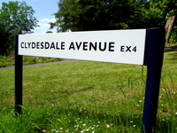 Exeter acupuncture: Turn into Clydesdale Ave.