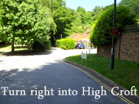Acupuncture in Exeter: Turn right into High Croft.