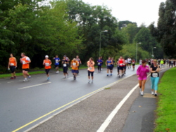 Acupuncture for shin splints: the Great West Run 2013 passing Exeter University.
