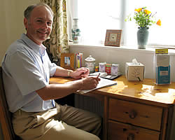 Robin Costello providing acupuncture in Exeter