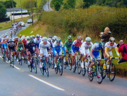 Acupuncture for sports injuries: Tour of Britain cycle race between Crediton & Tiverton