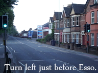 Acupuncture in Exeter: Turn left.