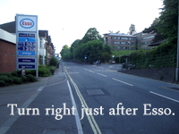 Acupuncturist Exeter: Turn right after Esso.