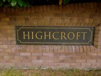 Exeter acupuncturist: Highcroft sign.