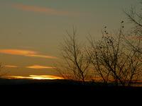 Winter sunset near Exeter