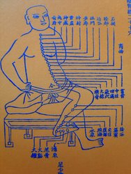 Acupuncture in Exeter: people ask what does acupuncture treat - here is an ancient Chinese depiction of the acupuncture meridians.